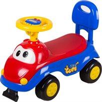 בימבה פרצוף עם הגה ומנגינות לילדים - אדום/כחול