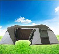 אוהל שטח מפואר, עשוי חומר נוגדי קרינה ונגד גשם, וכולל חדרים, צליות, חלונות ורצפה איכותית
