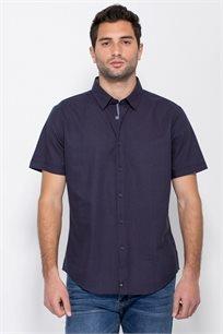 חולצת אוקספורד עם הדפס אול אובר