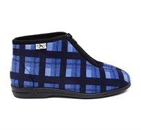"""נעלי בית דפנה לגבר """"קיפי"""" דגם נועם דיגיטל בצבע כחול"""