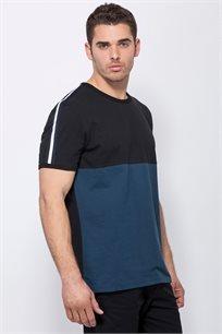 חולצת קולור בלוק