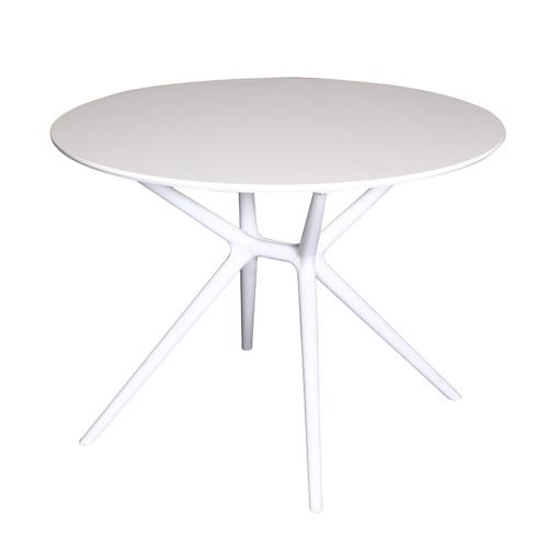 שולחן אוכל לבן עגול דגם DAGAN
