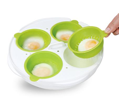 כלי להכנת ביצים במיקרוגל כולל קערה להכנת אומלט