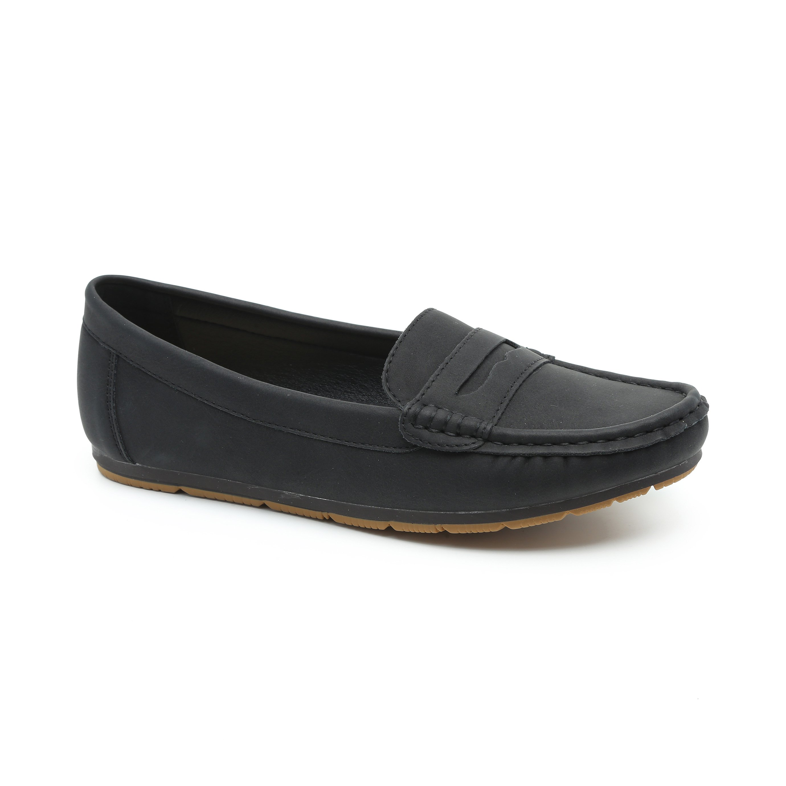 Seventy Nine - נעלי מוקסין במראה רטרו בצבע שחור