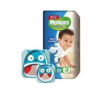 מארז 5 חבילות Huggies Freedom Dry וסט כלי אוכל לילדים SKIP HOP