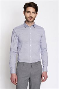 חולצה מכופתרת מודפסת EXTRA SLIM לגבר DEVRED - סגול לילך
