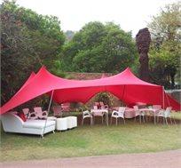 אוהל מבד לייקרה איכותי המסנן כ-98% קרני UV לקמפינג וחוף, התקנה קלה וידידותית