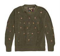 סוודר Star Cascade לנשים - ירוק