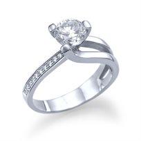 טבעת אירוסין זהב לבן איב 1.04 קראט בשיבוץ יהלום יוקרתי