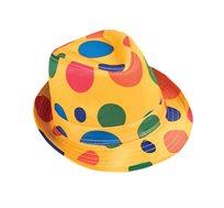 כובע מוארך מנוקד לליצן
