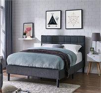 מיטה זוגית בריפוד בד ורגלי עץ VITORIO DIVANI דגם סליפי