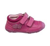 נעלי צעד ראשון לבנות דגם סופטי לבבות בצבע ורוד פוקסיה