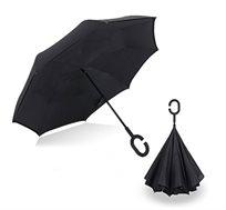 מטריה הפוכה הנפתחת מהפנים לחוץ ובכך מאפשרת נוחות סגירה ופתיחה מירבית ומונעת רטיבות - משלוח חינם!