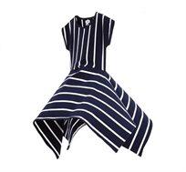 שמלת פסים לילדות בצבעי כחול ולבן