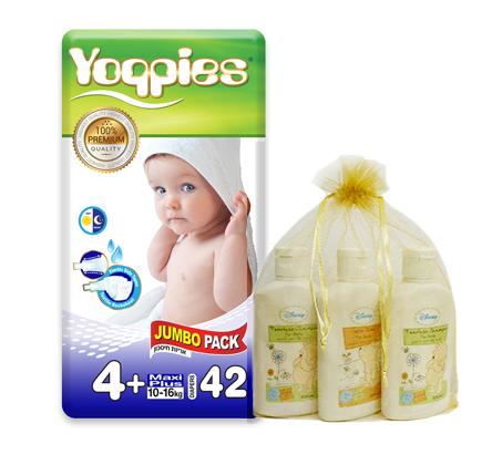 מארז 6 חבילות חיתולי פרימיום + סט שמפו וסבון דיסני מתנה