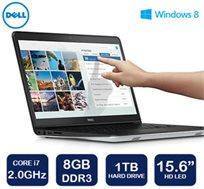 """נייד 15.6"""" מסך מגע HD מבית Dell סדרת Inspiron 15-5547, מעבד i7, זיכרון 8GB, דיסק קשיח 1TB, ו-WIN8"""