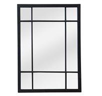מראה מעוצבת דגם מטאל שחור ביתילי למראה ייחודי מראה עם מסגרת מתכת שחורה ומתאימה לכל חלל בבית