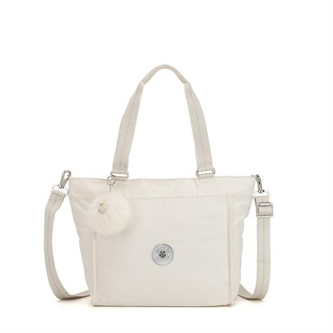 תיק צד בינוני New Shopper S - Dazz Whiteגינס לבן