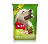 """מזון לכלבים בוגרים 20 ק""""ג בונזו תוצרת ישראל"""