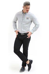 חולצת פסים מכופתרת לגברים במגוון צבעים לבחירה