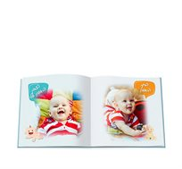 יומן תינוק מרובע 20X20 כרוך בכריכה קשה 32 עמודים