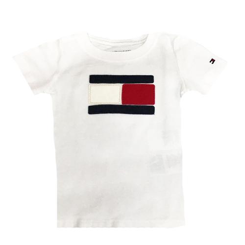 חולצת Tommy Hilfiger לילדים (מידות 5-14 שנים) - לוגו במרכז