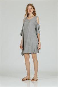 שמלה כתף אפור