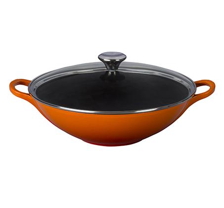 """ווק 36 ס""""מ כתום לכל סוגי הכיריים ולתנור"""