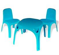 סט שולחן גילי עם משטח גדול וחלק המספק בטיחות ונוחות כולל 2 כסאות KETER