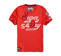טי שירט ACADEMY 54 SUPERDRY לגברים בצבע אדום