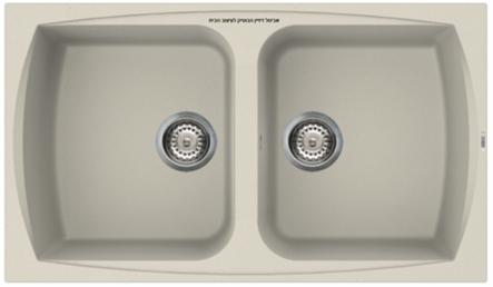 כיור מטבח כפול תוצרת איטליה דגם Living 450
