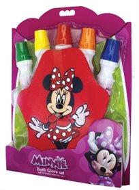 סט 5 צבעי אמבט על בסיס סבון נוזלי עם כפפת מחיקה - מיני מאוס
