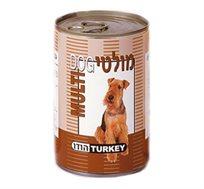 12 מולטי dog - שימורים לכלב בטעם הודו במרקם חתיכות