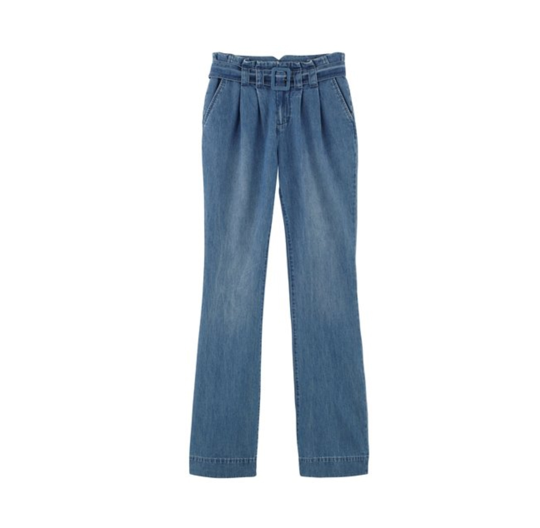 מכנסי ג'ינס רחבים ואופנתיים PROMOD לנשים - כחול