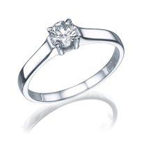 """טבעת אירוסין זהב לבן """"זואי"""" 0.31 קראט"""