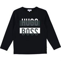 BOSS חולצה (6 שנים) - שחור דוגמא לבנה