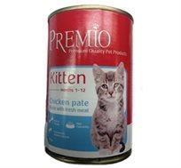 12 שימורי פרימיו לגורי חתולים בטעם עוף
