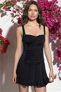 בגד ים שלם GLAMOUR דגם גלי - שחור