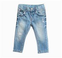 מכנסי ג'ינס ארוכים לתינוקות וילדים עם קרעים