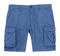 מכנסי ברמודה קצרים עם כיסים Napapijri לגברים בהדפס עלים כחול