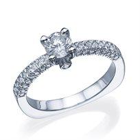 """טבעת יהלומים וינטאג' """"ג'נסיס"""" זהב לבן 1.05 קראט"""