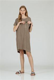 שמלה כיס מרובע חום - CUBiCA