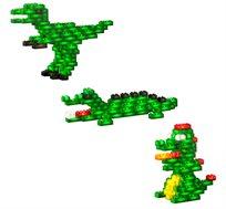 משחק הזוחלים 105 קוביות מוארות LIGHT STAX, תואם גודל קוביות LEGO - משלוח חינם!