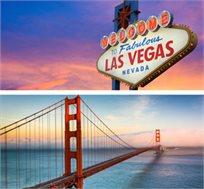 טיול מאורגן ל-10 ימים בסן פרנסיסקו ולאס וגאס החל מכ-$2550*