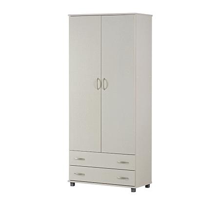 ארון בגדים 2 דלתות בעל תאי אחסון ומגירות במגוון צבעים לבחירה - תמונה 3