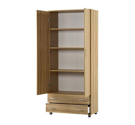ארון בגדים 2 דלתות בעל תאי אחסון ומגירות במגוון צבעים לבחירה - תמונה 2