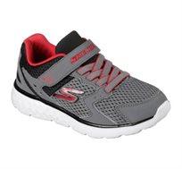 נעלי ספורט Skechers לילדים בצבע אפור/אדום