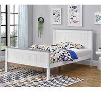 מיטת נוער מעץ מלא דגם LITAL 120