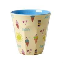 כוס מלמין טוטון עם הדפס ים - Rice