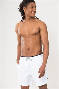 מכנסי בגד ים לגברים - לבן